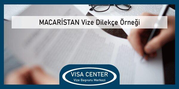 Macaristan Vize Dilekce Ornegi