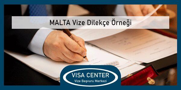 Malta Vize Dilekce Ornegi